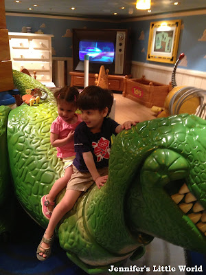 Children in the play area aboard the Disney Fantasy