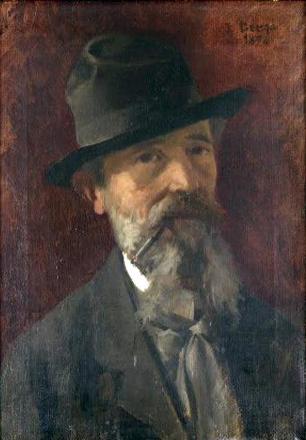 Josep Berga i Boix, Self Portrait, Portraits of Painters, Fine arts, Portraits of painters blog, Paintings of Josep Berga, Painter Josep Berga