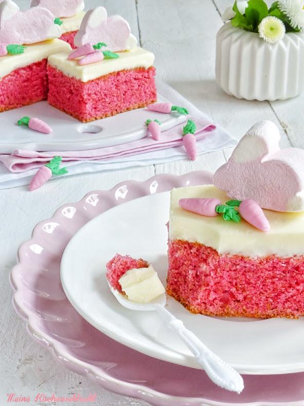 Ein kleiner rosa Osterkuchen Traum oder { Vanille-Orangenlikör ...