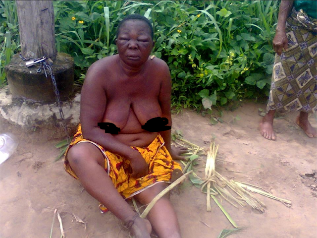 Woman Stripped Unclad And Beaten In Public ''the reason will shock you''(SEE PHOTOS)