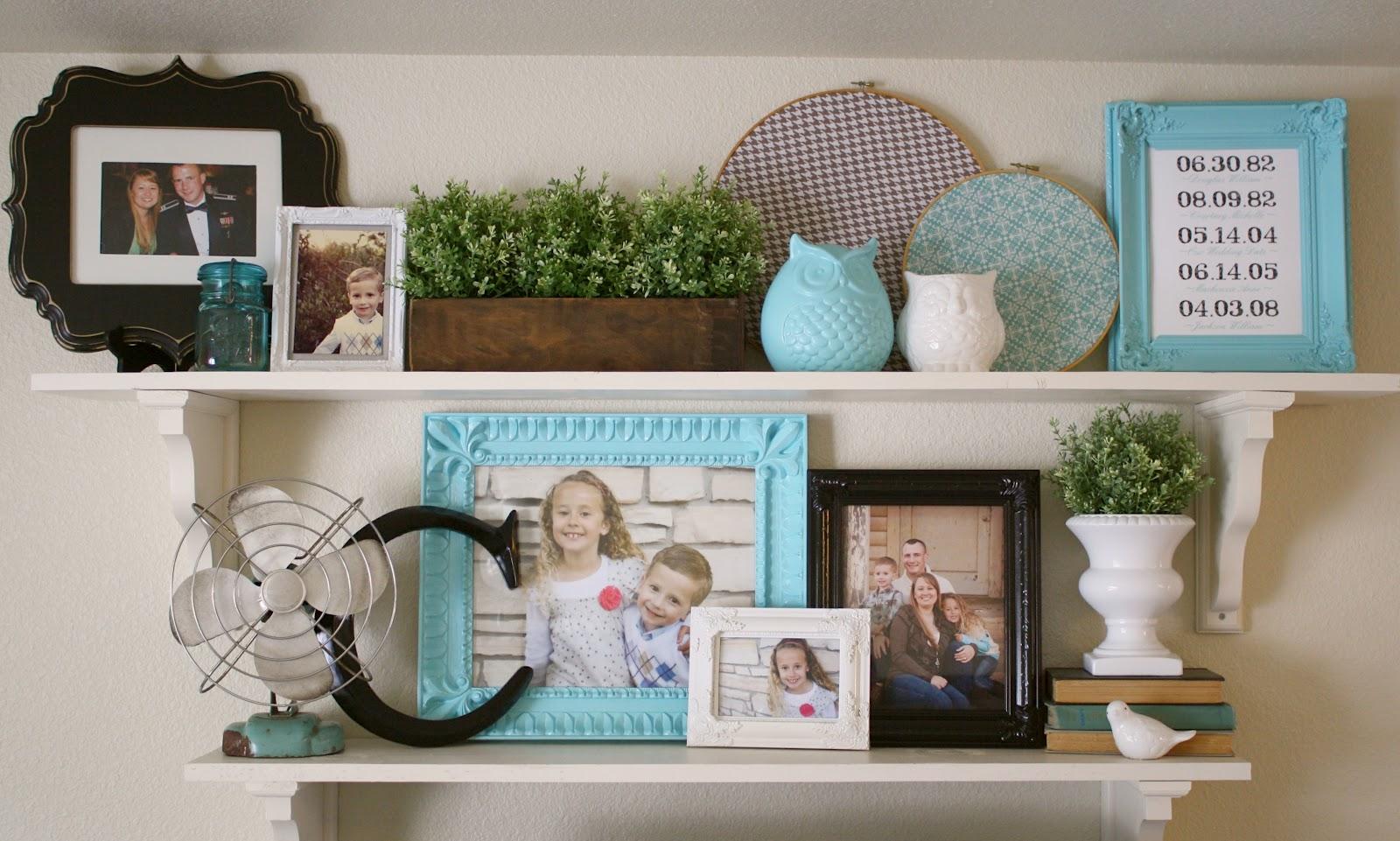 Living room makeover open shelving - Open shelving living room ...