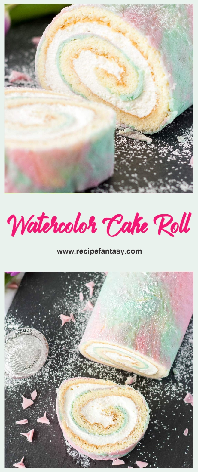 Watercolor Cake Roll