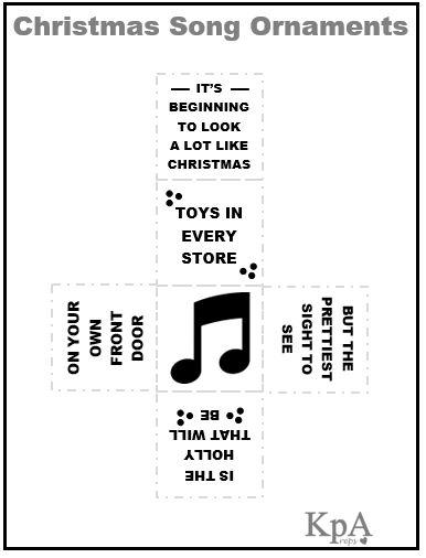 DIY Christmas Song Ornaments!! | KPApreps