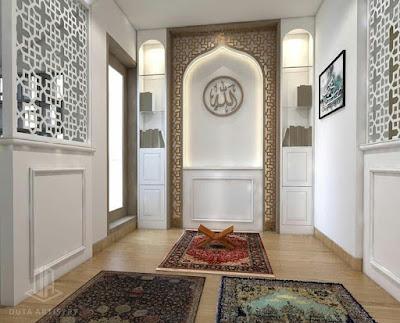 tips desain dan dekorasi musholla dalam rumah yang nyaman