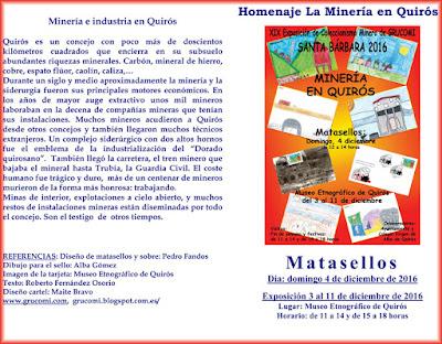 Díptico de la exposición de GRUCOMI en Quirós 2016