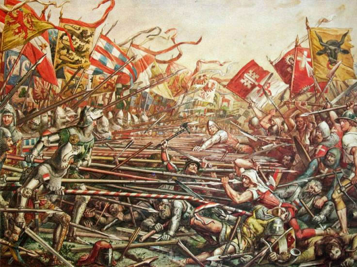 Battle between Austria and Austria and the Swiss Confederacy
