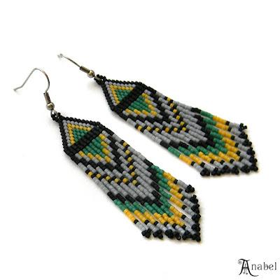 купить яркие украшения серьги из бисера этно стиль