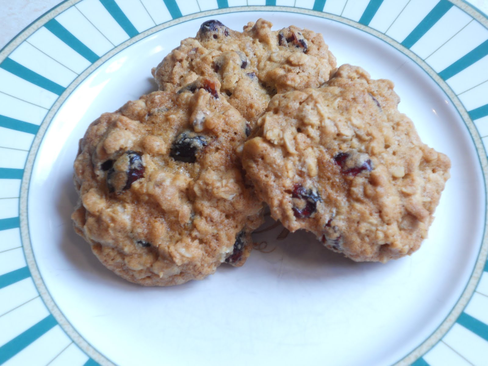 Cranberry Walnut Oatmeal Cookies Just One Donna