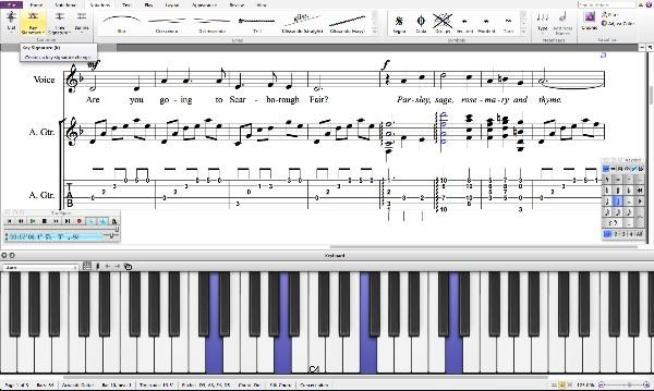 Avid Sibelius 7.5 Screenshot