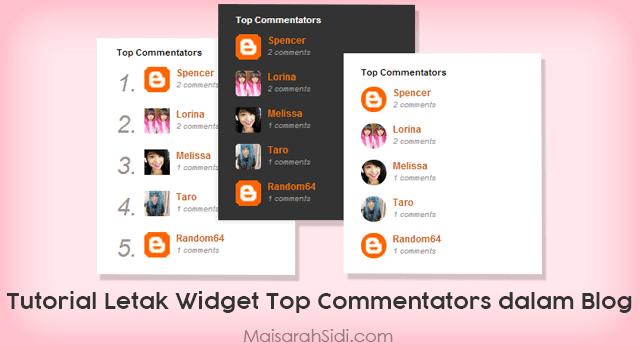 widget top commentators