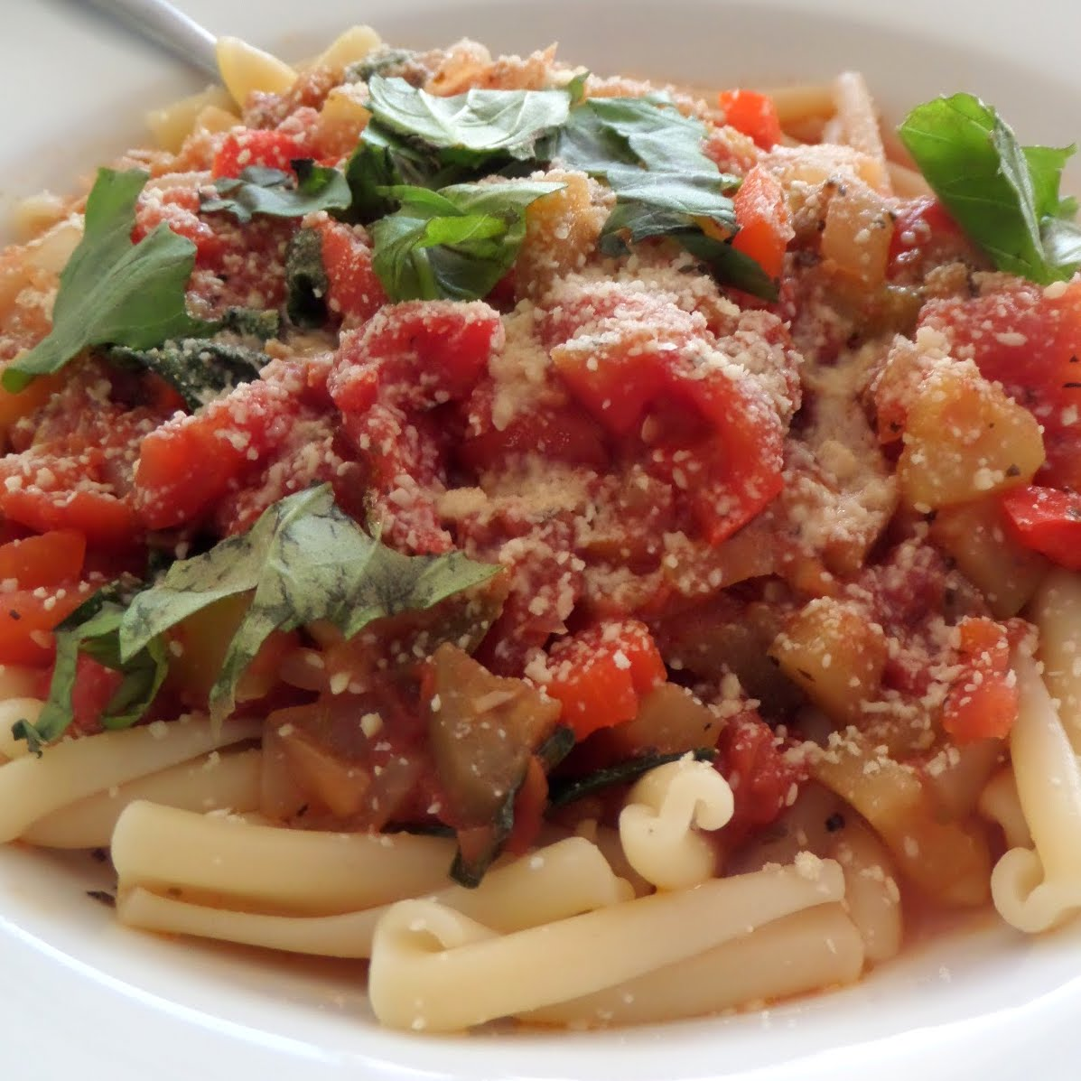 Very Veggie Pasta:  A vegetarian pasta made with an assortment of vegetables