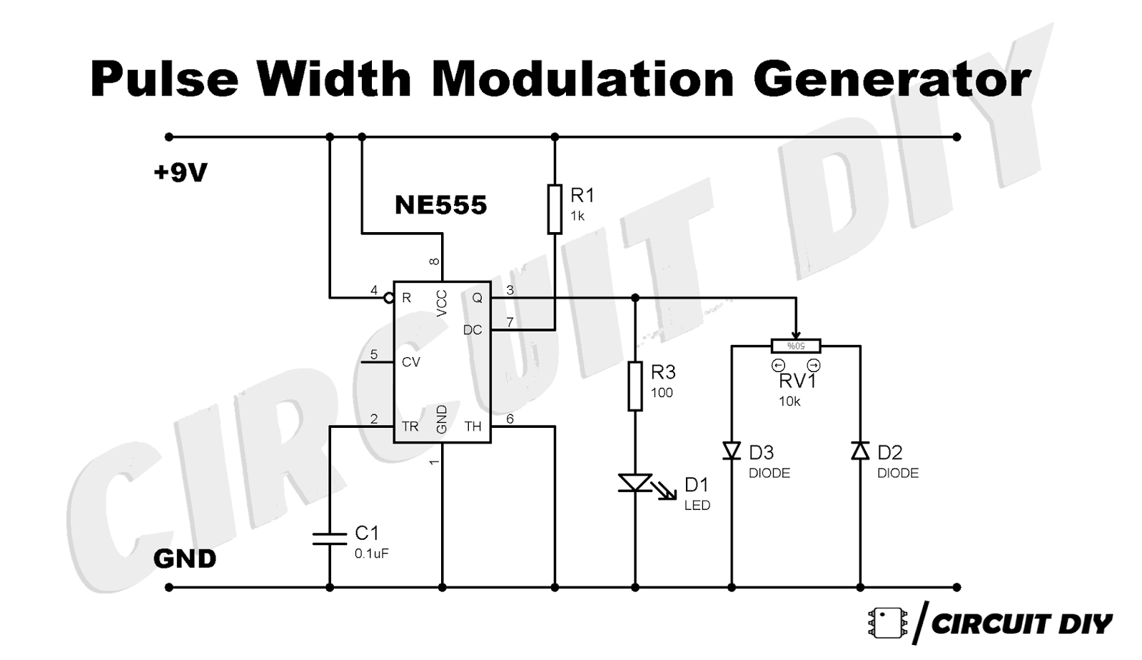 pwm generator circuit using 555 timer ic