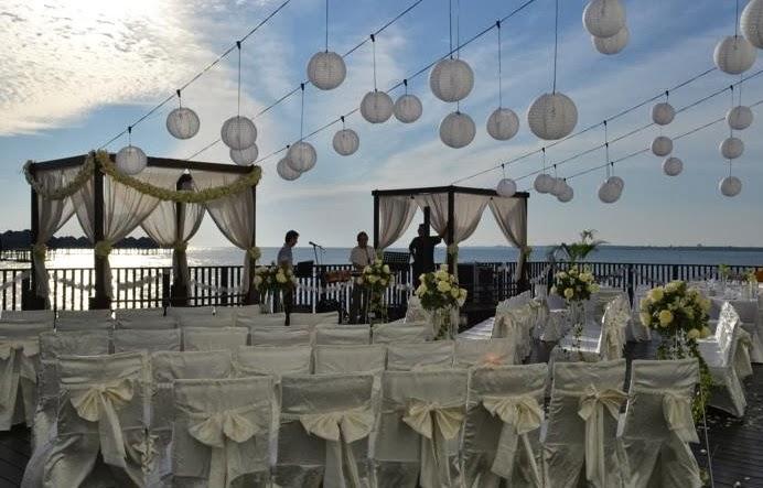 wedding sunset view