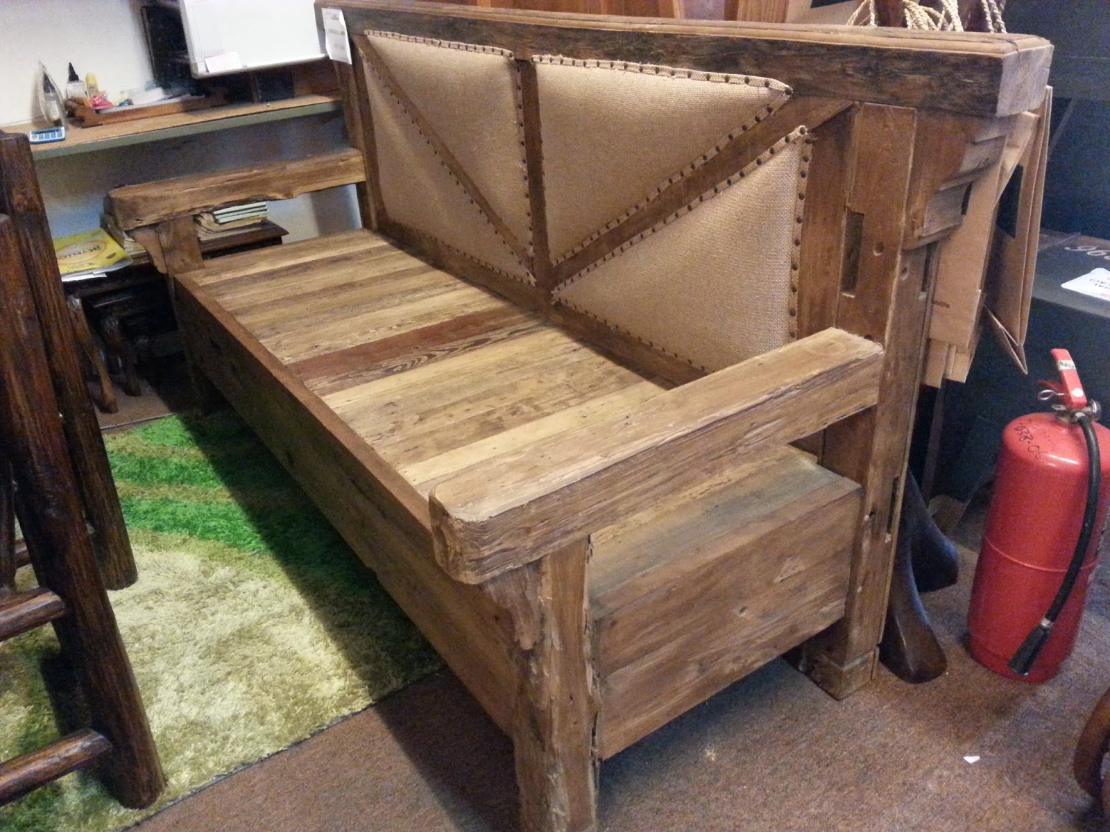 833 Imported Used Hand Made Teak Wood Kayu Jati Bench