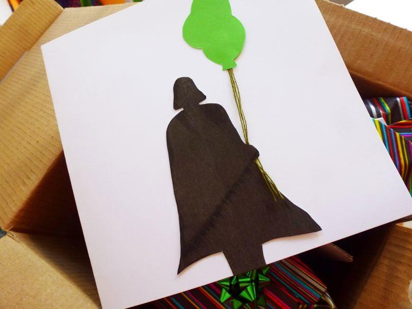 Geburtstagskarte Darth Vader mit Luftballons