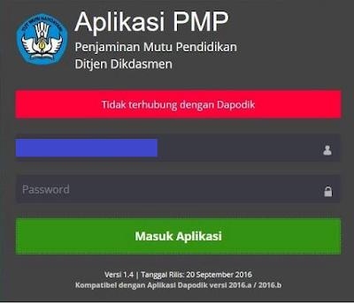 Aplikasi PMP Tidak Terhubung Dengan Dapodik