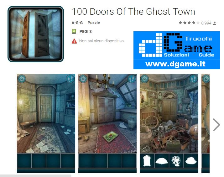 Soluzioni 100 Doors Of The Ghost Town di tutti i livelli | Walkthrough guide