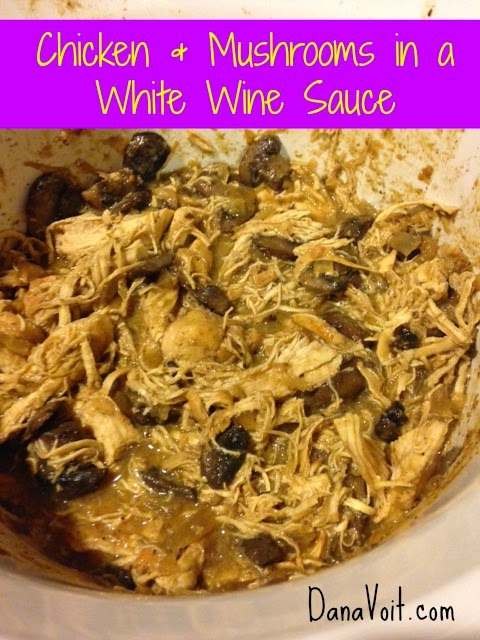 Laugh*Love*Be Fit: Chicken and Mushrooms in a White Wine Sauce