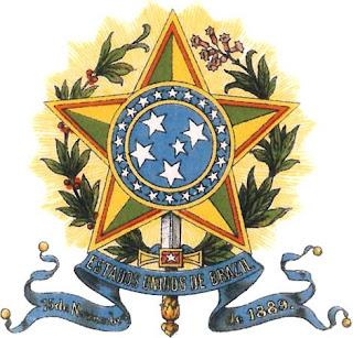 Imagen del antiguo escudo de Brasil a color