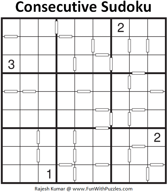 Consecutive Sudoku Puzzle (Fun With Sudoku #275)