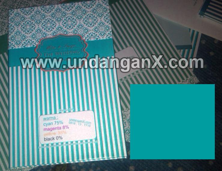 Undangan warna TOSCA ada di www undanganX com Apa itu
