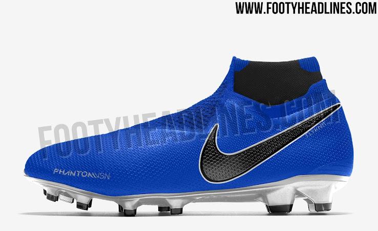 Blau Schwarz Silberne Nike Phantom Vision 2018 2019
