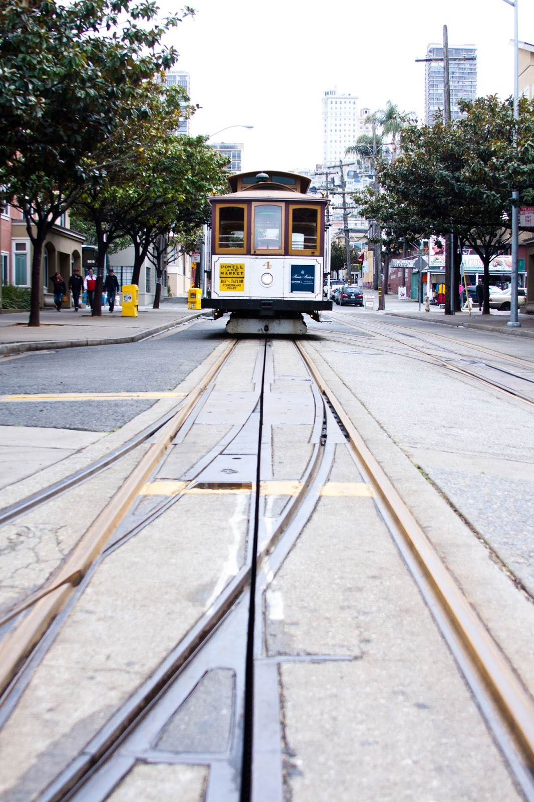 A cable car at Fisherman's Wharf.
