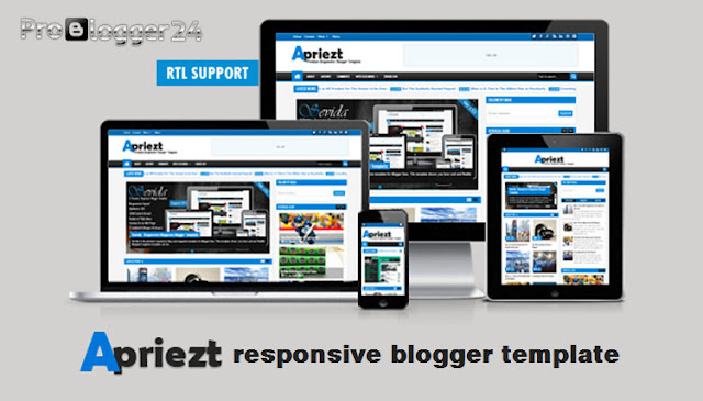 apriezt blogger template free download