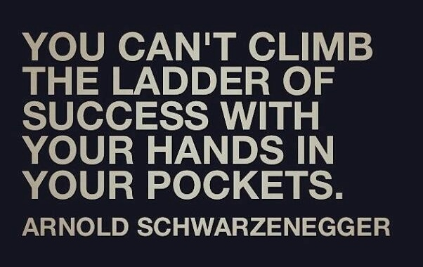 Ladder of Success quote Arnold Schwarzenegger Business Quotes Frugal Entrepreneur Motivational Mike Schiemer Media