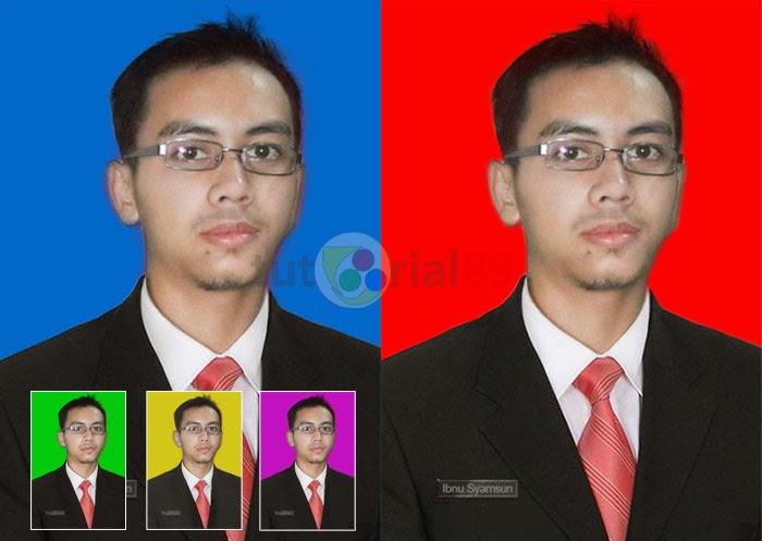 Cara mengganti background pas foto dengan photoshop