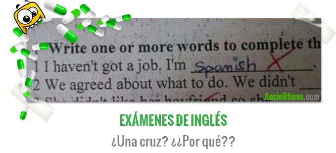 Chiste de los Exámenes de Inglés en Selectividad