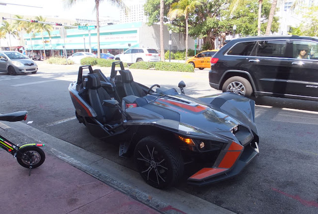 South Beach Miami Black Sports Car
