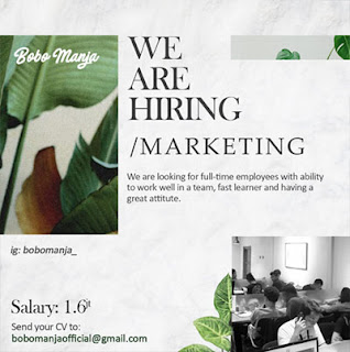 Lowongan Kerja Marketing di Bobomanja - Surakarta (Gaji Rp. 1 e70681e33a