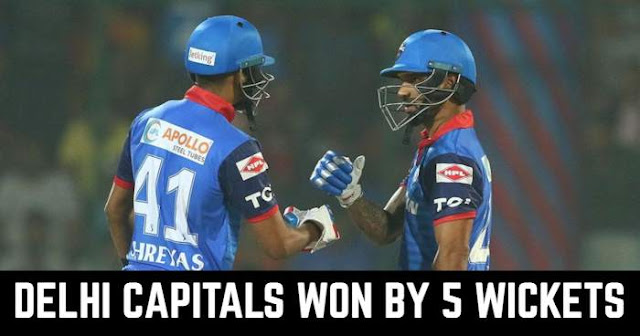 Delhi Capitals won by 5 Wickets