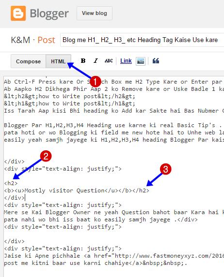 Blogger html mode