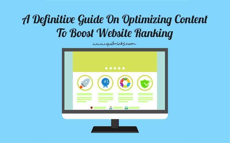 Optimizing Content To Boost Website Ranking