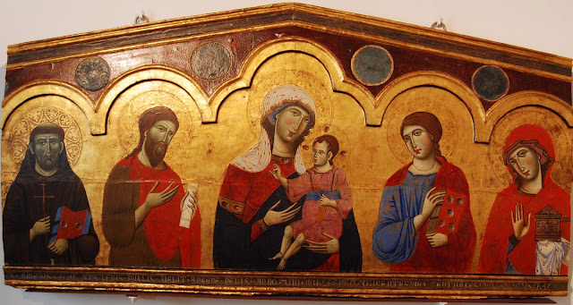 Madone avec Saints, Guido da Siena (XIIIème siècle)