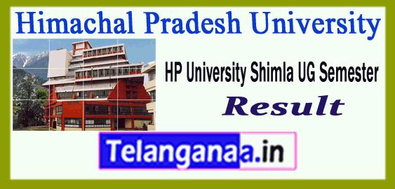 Himachal Pradesh University Shimla 2nd 4th 6th BSc BA BCom semester Result