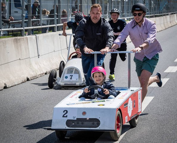 Princess Marie, Prince Joachim and Prince Henrik at. The Classic Race Aarhus festival
