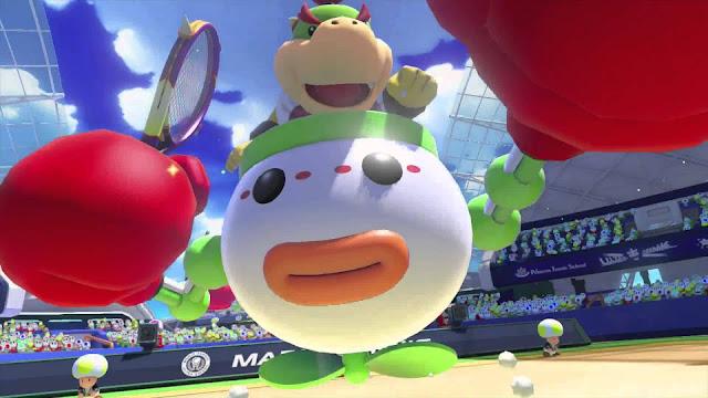 Mario Tennis Aces nerfeará a Bowser Jr.