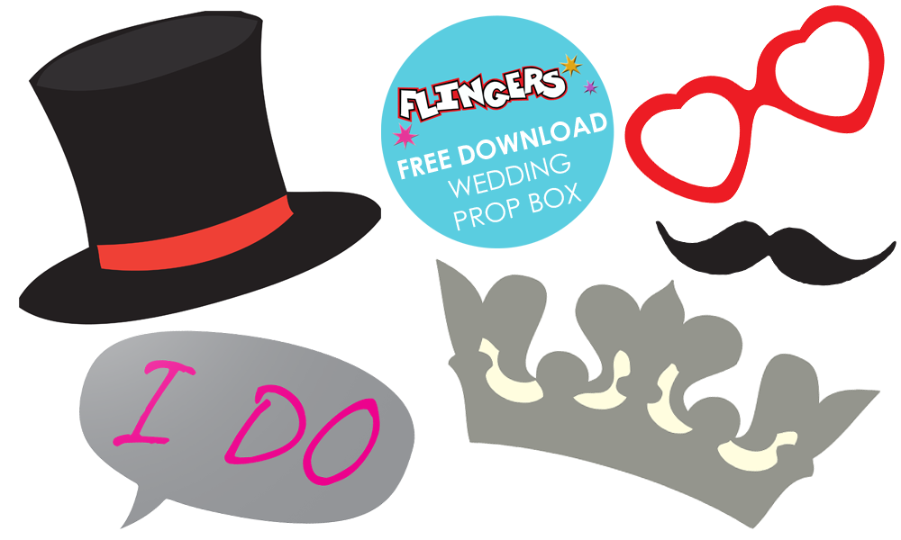 Flingers Party Shop Blog Free Wedding Photo Booth Props