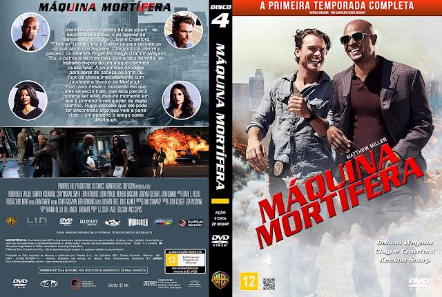 Capa DVD Máquina Mortífera - Primeira Temporada - Disco 4 [Custom]