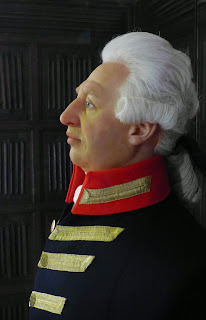 Wax head of George III  made by Madame Tussaud