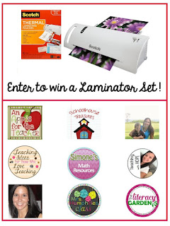 Schoolhouse Treasures and others giveaway a laminator and sheets!  Giveaway ends August 21, 2016