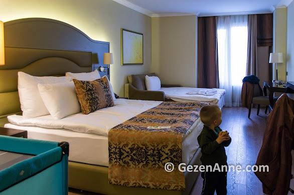 Ramada Kazdağları otel Deluxe odalarında iki çocuk konakladık, Güre