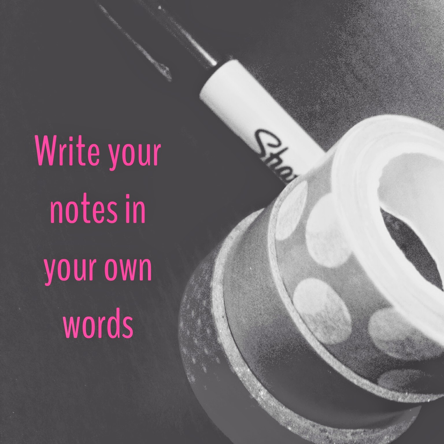 how to write in your own words