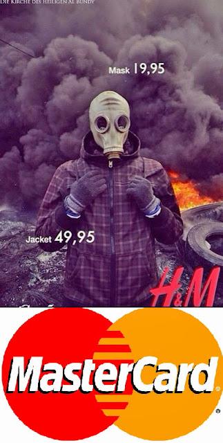Böse Bilder lustige Werbung H&M - Mastercard Kreditkarte witzig