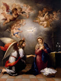Annunciation by Bartolome Esteban Murillo - Christianity Paintings from Hermitage Museum