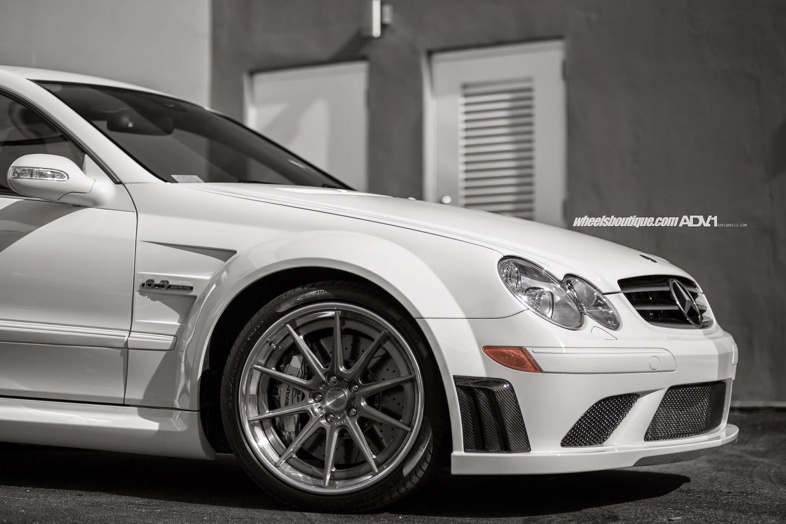 Custom Classic Car Wallpapers Mercedes Benz Clk63 Amg Black Series On Adv 1 Wheels
