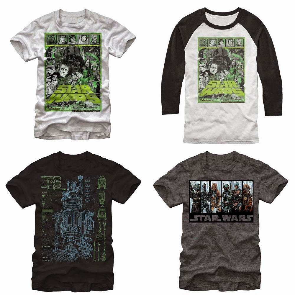 Mondo Star Wars Screen Print Series T-Shirts by Tyler Stout, Kevin Tong & Ken Taylor